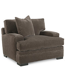 "Teddy 47"" Fabric Living Room Chair, Created for Macy's"