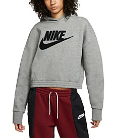 Women's Sportswear Logo Patch Fleece Hoodie