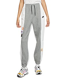 Women's Sportswear Icon Clash Mixed-Media Pants