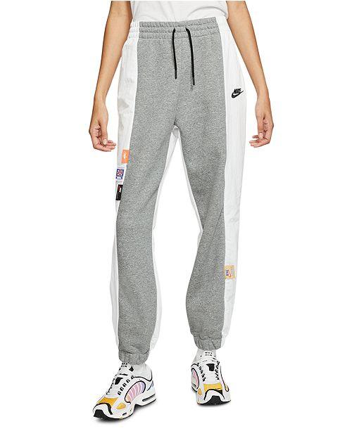 Nike Women's Sportswear Icon Clash Mixed-Media Pants