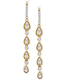 Diamond Teardrop Dangle Drop Earrings (1 ct. t.w.) in 14k Gold, Created for Macy's