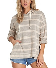 Juniors' Beach Days Striped Hoodie