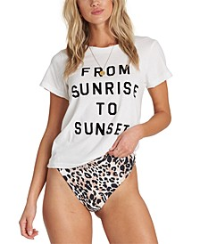 Juniors' Cotton From Sunrise To Sunset T-Shirt