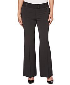 Womens Curvy-Fit Gabardine Bootcut Trouser