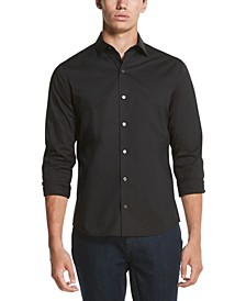 Men's Performance Stretch French Placket Solid Shirt