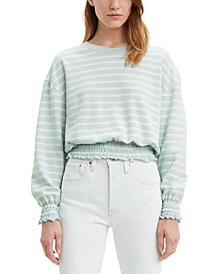 Paloma Smocked Cropped Sweatshirt