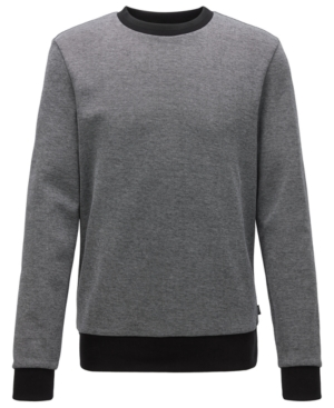 Boss Men's Stadler 31 Striped-Collar Sweatshirt