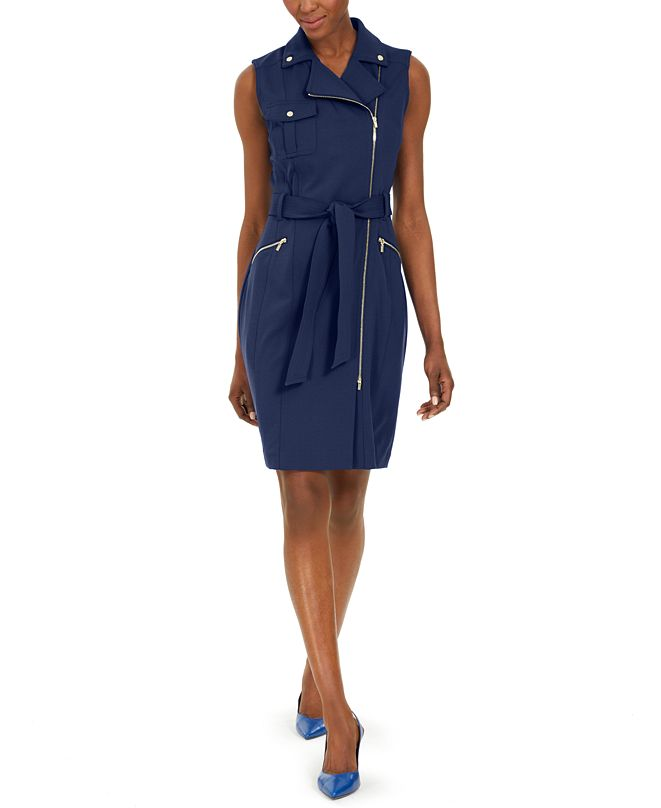 Calvin Klein Moto Sheath Dress
