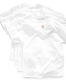 Hanes Platinum 4-Pack White Cotton Undershirts, Little Boys & Big Boys