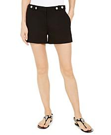 Snap-Waist Shorts