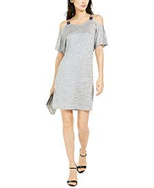 Michael Michael Kors Metallic Cold-Shoulder Dress