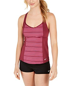 Stripe Racerback Tankini Top & Swim Shorts