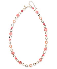 "INC Gold-Tone Stone & Bead Strand Necklace, 35-1/2""+ 3"" extender, Created for Macy's"