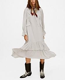 Trapeze Ruffled Dress