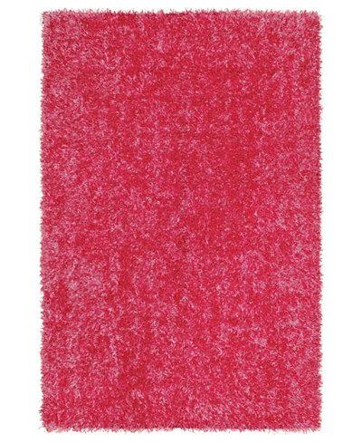 CLOSEOUT! Dalyn Area Rug, Metallics Brights Shag Hot Pink 3'6\\\