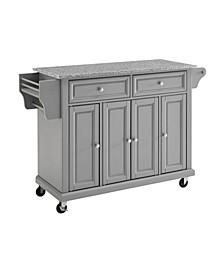 Solid Granite Top Kitchen Cart, Island