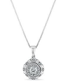 Diamond 1/4 ct. t.w. Solutaire Pendant in 10K White Gold
