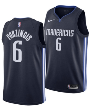 Nike Men's Kristaps Porzingis Dallas Mavericks Statement Swingman Jersey