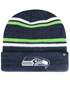 Seattle Seahawks Marled Stripe Cuff Knit Hat
