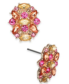 INC Rose Gold-Tone Multi-Stone Cluster Stud Earrings, Created For Macy's