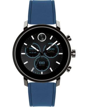 MOVADO MEN'S SWISS CONNECT 2.0 NAVY SILICONE STRAP TOUCHSCREEN SMART WATCH 40MM