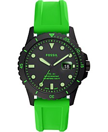 Men's FB-01 Green Silicone Strap Watch 42mm