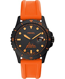 Men's FB-01 Orange Silicone Strap Watch 42mm