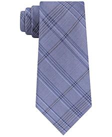 Men's Mod Tonal Tartan Slim Silk Tie