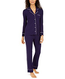 Women's Ribbed Pajama Set, Created For Macy's