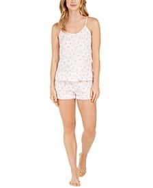 Printed Knit Ruffle Cami & Shorts Pajama Set
