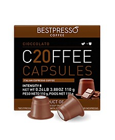 Coffee Chocolato Flavor 20 Capsules per Pack for Nespresso Original Machine