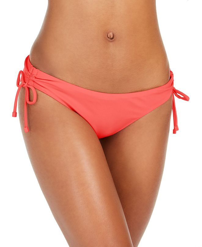 Bar III Side-Tie Hipster Bikini Bottoms, Created for Macy's