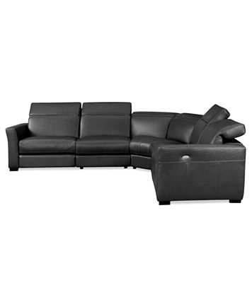 Nicole Leather Power Reclining Sectional Sofa Collection