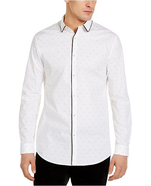 INC International Concepts INC Men's Stretch Floral Shirt, Created For Macy's