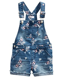 Toddler Girls Butterfly Denim Shortalls, Created For Macy's