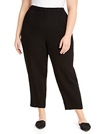 Plus Size Organic Cotton Tapered Ankle Pants