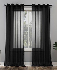 "Sheer Voile 59"" x 95"" Grommet Top Curtain Panel"