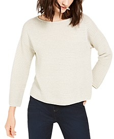 Bateau-Neck Ribbed Sweater