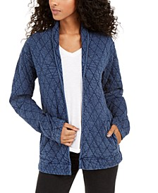 Quilted Open Jacket