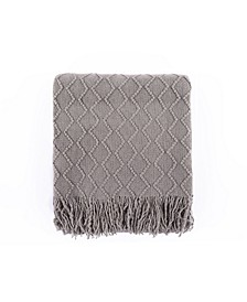 Textured Solid Soft Sofa Couch Decorative Knit Blanket