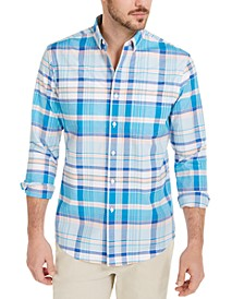 Men's Daniel Plaid Oxford Shirt, Created for Macy's
