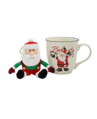 Winterberry Santa Mug, 20-Ounce