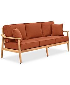 Savona Teak Outdoor Sofa: with Custom Sunbrella® Cushions