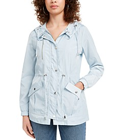 Juniors' Hooded Water-Resistant Anorak Jacket