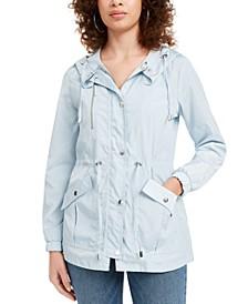 Juniors' Hooded Water-Resistant Anorak Jacket
