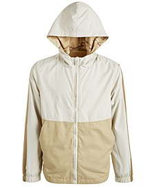 Big Boys Desert Camo Reversible Water-Resistant Hooded Windbreaker, Created For Macy's