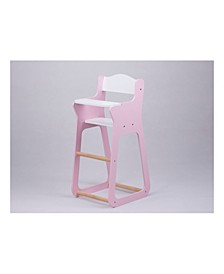Toys Line Design Baby Doll Wooden High Chair