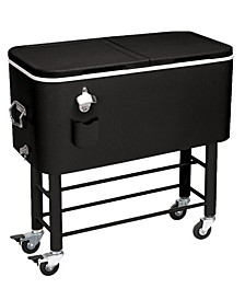 Rio Gear 2-In-1 Rolling Party Steel Cooler with Wheels - 77 Quart