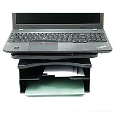 2 Tier Swivel Top File Organizer, Document Organizer