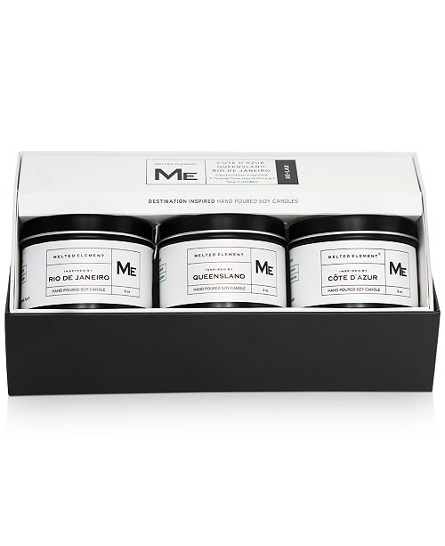 Melted Element 3-Pc. Relax Travel Candle Gift Set